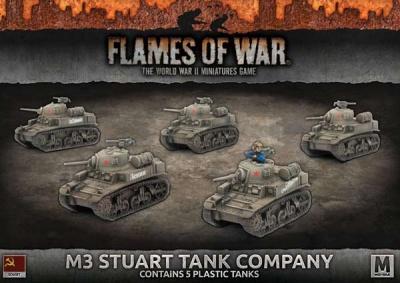 M3 Stuart Tank Company (Plastic)