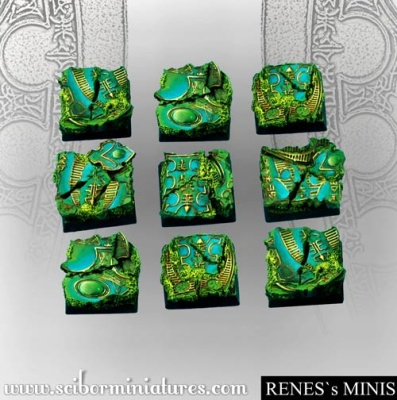 Elven Skylight Mirror 20mm square bases (5) (OOP)