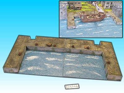 Geländestück Hafen, 2-teilig
