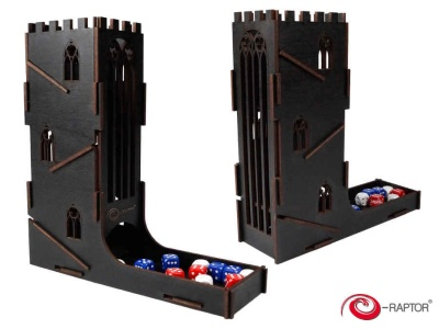 Dice Towers: Dice Tower - Castle (Black)