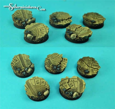 Egyptian Ruins 25mm Round (5)