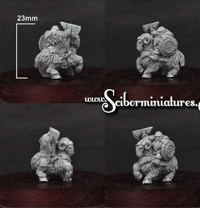15mm Dwarf Lord on Mountain Ram