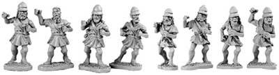 Unarmoured Spartan Hoplites (random 8 of 8 design