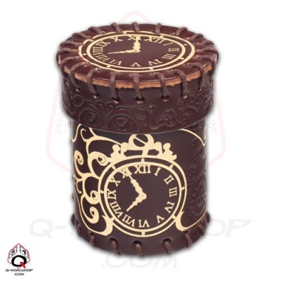Würfelbecher: Steampunk Leather Dice Cup