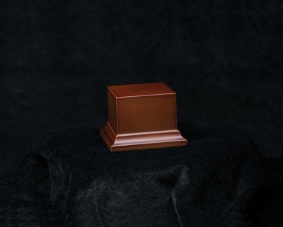 Wooden Base Brown, 50x50x50mm