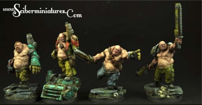 28mm SF Ogres Set #2 (4)