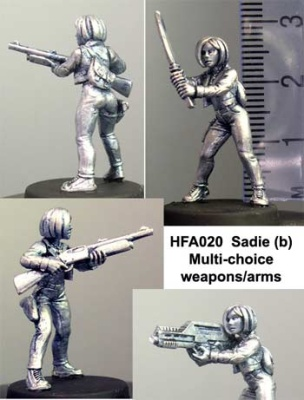 Sadie (b) choice of 3 weapon/arm combinations