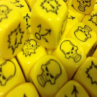 Block Dice Set OPAQUE YELLOW (3)