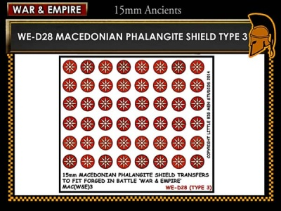 Macedonian Pikemen shield transfer  TYPE 3