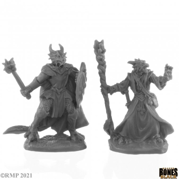 Dragonfolk Wizard and Cleric (2)