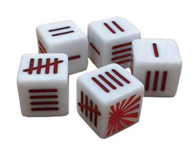 Japanese Blood Red Skies Dice set