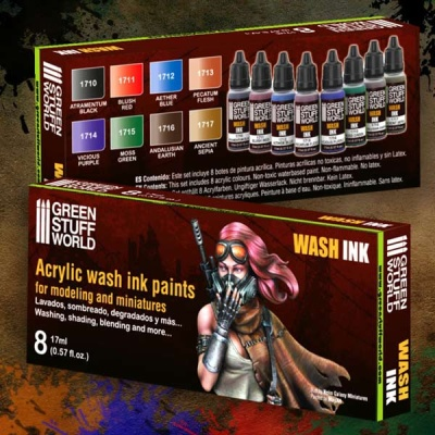 Acrylic Wash Ink Paints (8)