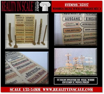 Wooden Signs WWII - Germany Set 1