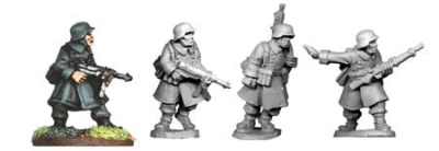 German NCO's and LMG in Greatcoats (4)