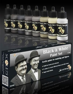Scale 75: Black and White Paintset (8)