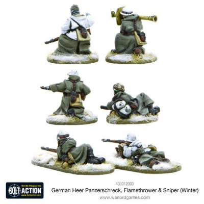 German Heer Panzerschreck, Flamethrower & Sniper teams (Wint