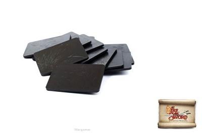 Plastic bases 3x4 cm