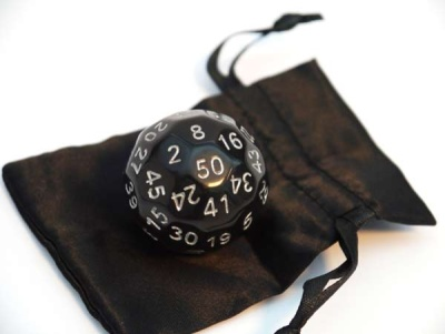 Dice-Up D50 Black/Silver