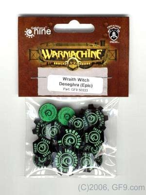 Warcaster Token Set - Epic Wraith Witch Deneghra (OOP)