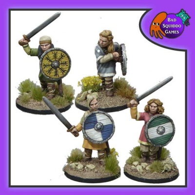 Shieldmaiden Warriors with Swords (4)