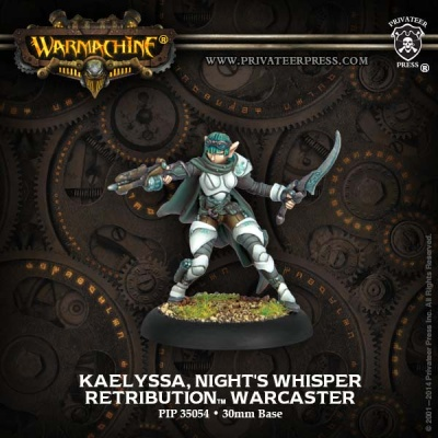 Retribution Warcaster Kaelyssa Night Whisper (Resculpt )