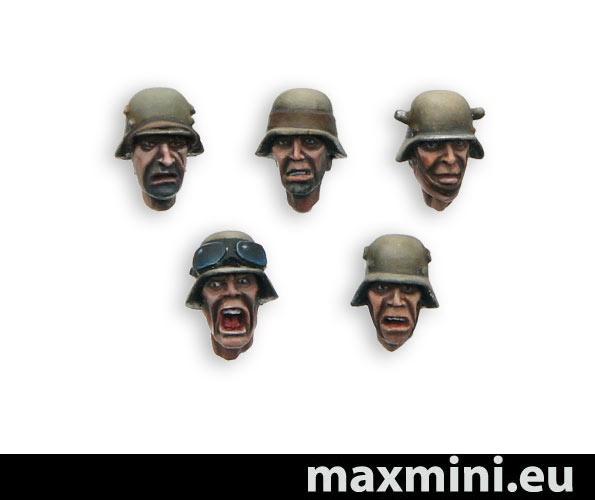 German WW2 style heads (10)