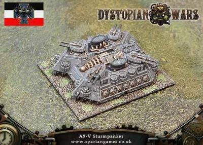 Prussian Empire A9-V Sturmpanzer Land Ship (1) (OOP)