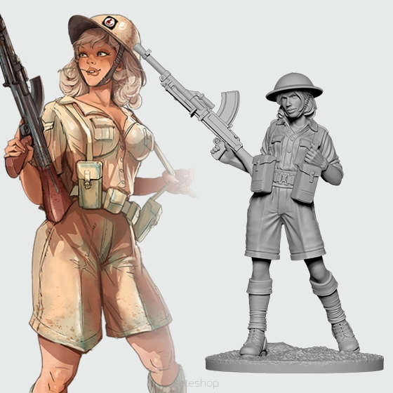 Emma the Desert Rat (54mm)