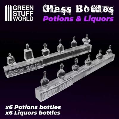 Potion and Liquor Bottles Resin Set (12)