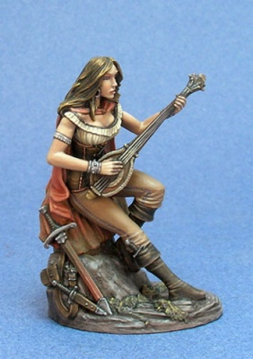 Female Bard with Lute
