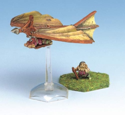 Bat' Dwarven Glider with Ramming spike