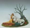The Seduction - Maiden with Unicorn - Diorama