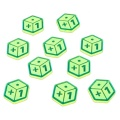 Plus One Tokens, Fluorescent Green (10)