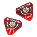 Space Fighter, Action Dials, Set of 2 PINK
