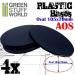 105x70mm Oval Kunststoffbasen (4)