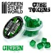 Cube tokens GREEN