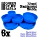 6x Containment Moulds for Bases - Round