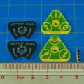 Space Fighter, Action Dials, Set of 2 GREEN