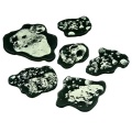 Space Fighter, Asteroid Template Set, Translucent Grey (6)