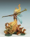 Page of Wands - Female Fairy with Critters