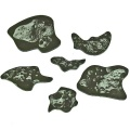 Space Fighter, Asteroid Template Set 2, Translucent Grey (6)